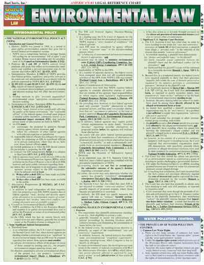 Environmental Law By Barcharts, Inc. (COR)